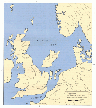 Hypothetical North Sea and islands c 5000 cal BC